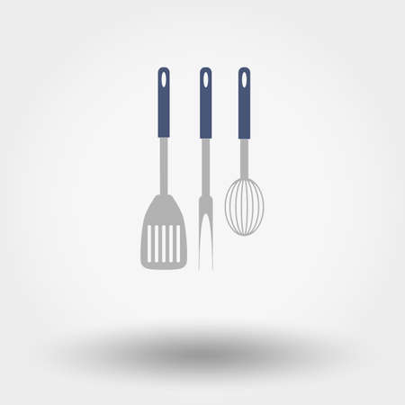 small group of objects: Set of web icon Kitchen tools. Vector illustration on a white background. Flat design style. Illustration