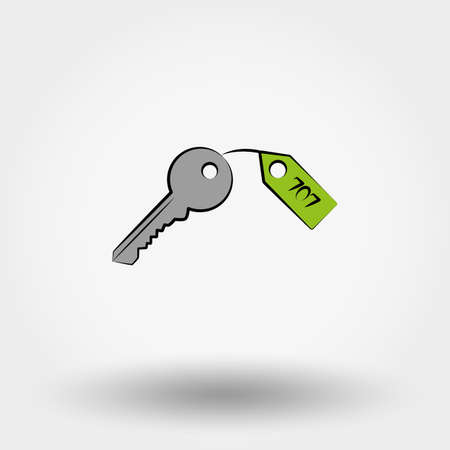 passkey: Key. Icon for web and mobile application. Vector illustration on a white background. Illustration