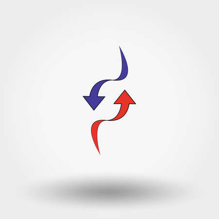 two point: Up and Down Arrow. Icon for web and mobile application. Vector illustration on a white background.