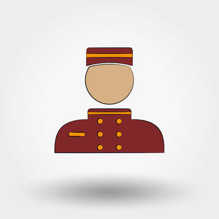 custodian: Hotel icon. Porter. Icon for web and mobile application. Vector illustration on a white background.