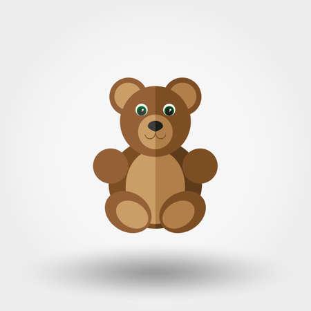 oso de peluche: Juguete del oso. Ilustración del vector en un fondo blanco. Vectores