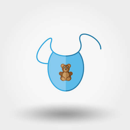 newborn: Bib. Newborn clothes. Icon for web and mobile application. Vector illustration on a white background. Flat design style.