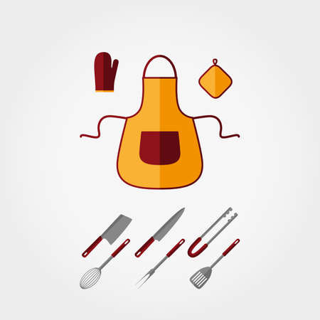 kitchen tools: Kitchen tools. Icon for web and mobile application. Vector illustration on a white background. Flat design style. Stock Illustratie