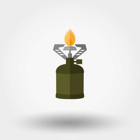 travel burner: Camping stove. Icon for web and mobile application.