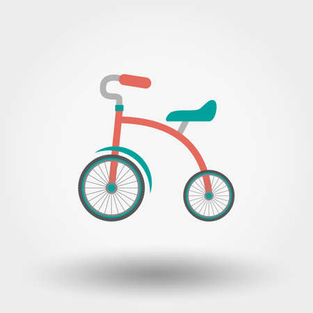 antique tricycle: Tricycle. Icon for web and mobile application. Vector illustration on a white background. Flat design style.