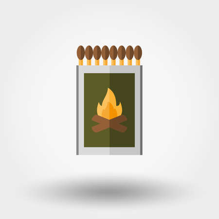 match box: Match box. Icon for web and mobile application. Vector illustration on a white background. Flat design style. Illustration