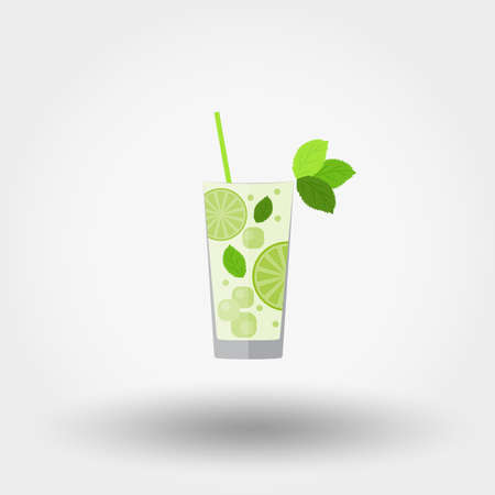 Mojito. Cocktail. Icon for web and mobile application.