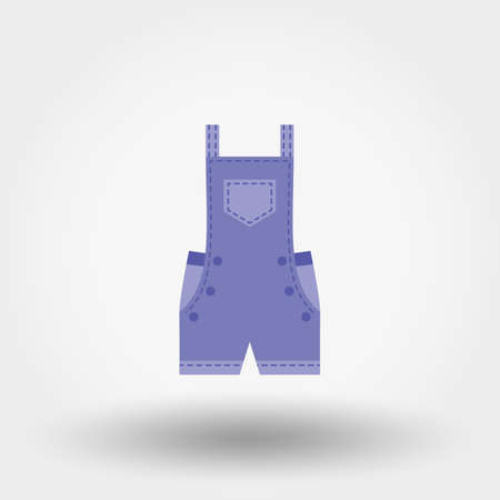children clothing: Rompers. Icon for web and mobile application. Vector illustration on a white background. Flat design style. Illustration