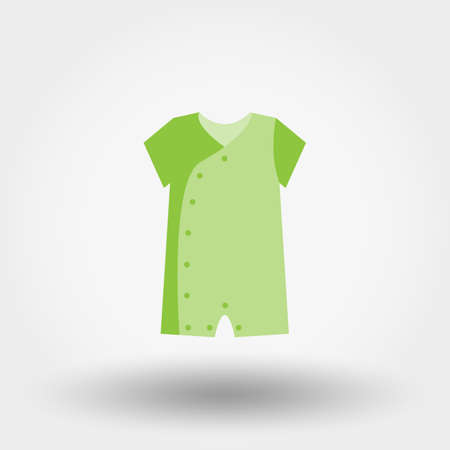 bodysuit: Infant Bodysuit. Icon for web and mobile application. Vector illustration on a white background. Flat design style.