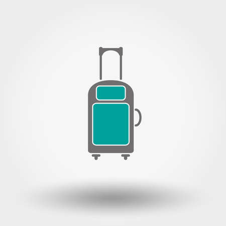 packing suitcase: Web icon Suitcase. Vector illustration on a white background. Flat design style. Illustration