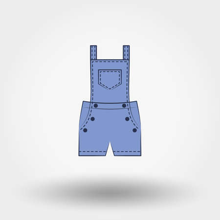 rompers: Rompers. Icon for web and mobile application. Vector illustration on a white background. Doodle, cartoon style.
