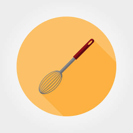 color mixing: Corolla. Icon for web and mobile application. Vector illustration of a button with a long shadow. Flat design style. Illustration