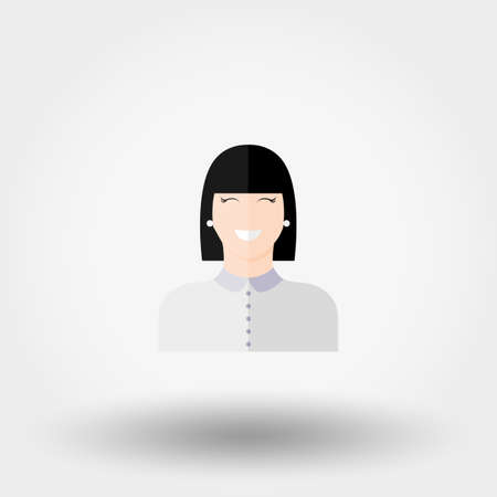 lassie: Administrator. Manager. Girl. Icon for web and mobile application. Vector illustration on a white background. Flat design style.