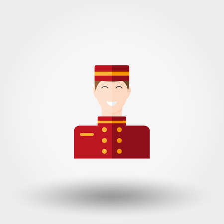 politeness: Porter. Icon for web and mobile application. Vector illustration on a white background. Flat design style.