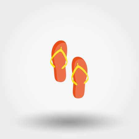 Flip flops. Icon for web and mobile application.