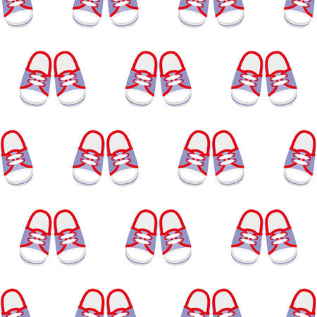 Sneakers seamless pattern.