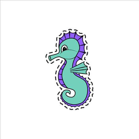 caballo de mar: Sea Horse. Vector illustration. Vectores