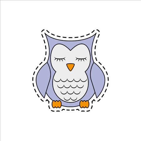 Sleeping owl. Vector illustration. Illustration
