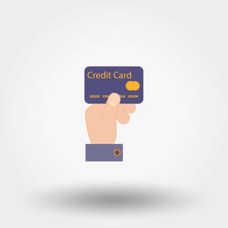Credit card payment. Icon. Vector.