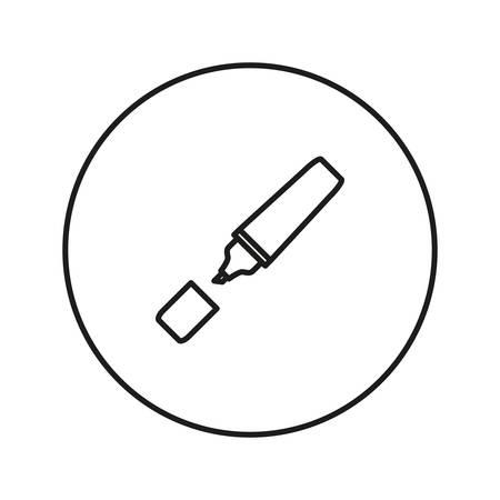fineliner: Marker Pen. Vector illustration.