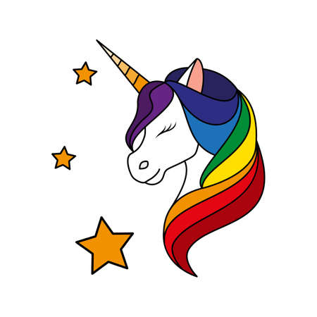 Unicorn. Vector illustration