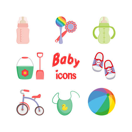 soothers: Baby icons. Vector.
