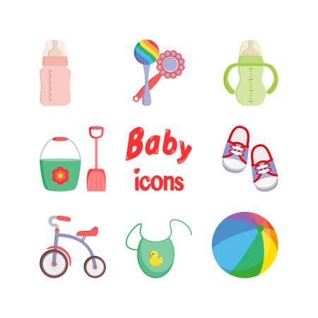 Iconos del bebé. Vector.