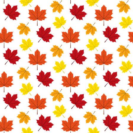 Autumn maple leafs pattern. Illustration