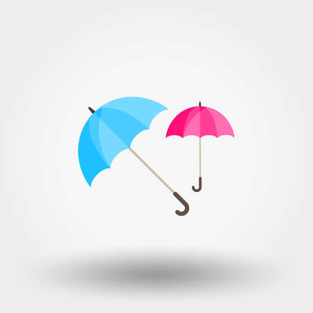 Rainwater Umbrella Icon for web and mobile application on a white background in flat design style illustration.