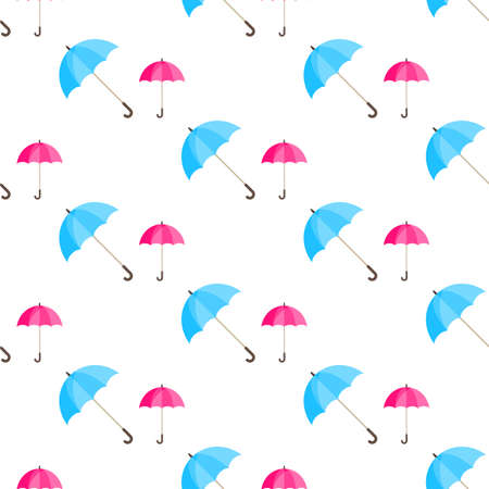 condensation: Rainwater Umbrella in seamless pattern illustration on a white background in flat design style. Illustration