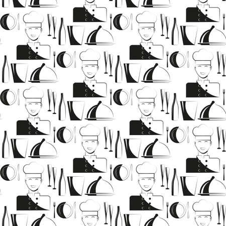 Kitchen chef pattern.