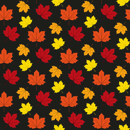 Autumn maple leafs pattern. Stock Vector - 91113938