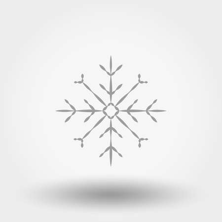 Snowflake icon on white background, vector illustration. Illustration