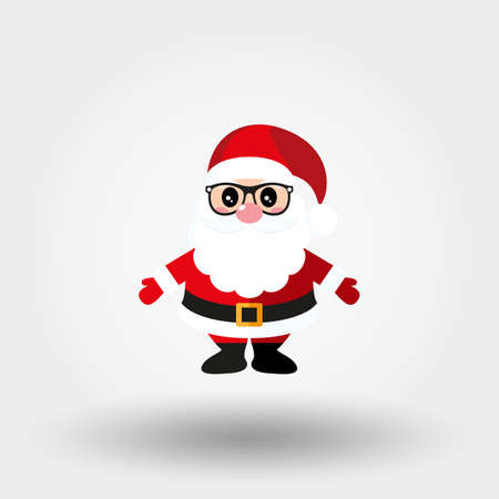 Santa Claus with glasses. Icon. Vector. Flat. Stock Photo