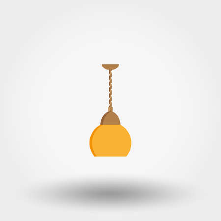 Lamp for kitchen flat vector icon.
