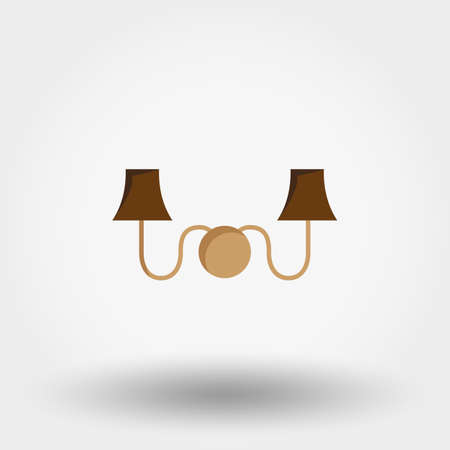 Sconce, wall light flat vector icon. Illustration