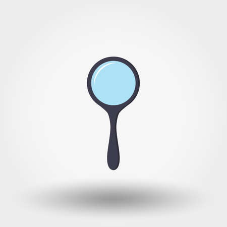 Magnifying glass. Icon for web and mobile application. Vector illustration on a white background. Flat design style.