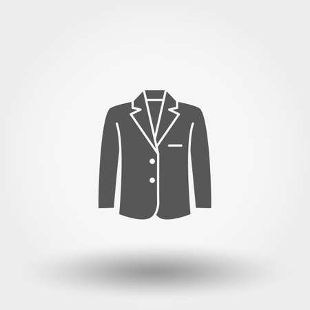 Jacket. Icon. Vector illustration. Silhouette. Flat design