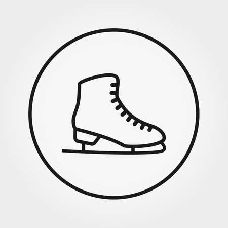 Skates. Universal icon for web and mobile application. Vector illustration on a white background. Editable Thin line.