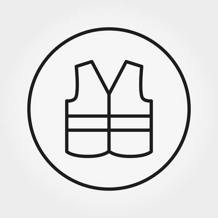 Safety Vest. Icon. Vector. Editable Thin line.