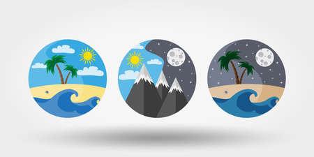 Nature, vacation, camping. Ilustração