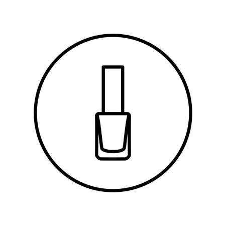 Nail polish. Icon. Editable Thin line. Vector illustration. Ilustrace