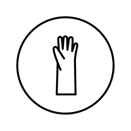 Rubber gloves. Icon. Editable Thin line. Vector illustration.  イラスト・ベクター素材