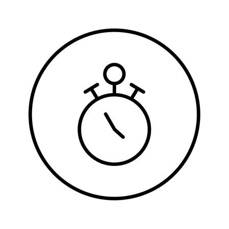 Stopwatch. Icon. Editable Thin line. Vector illustration.
