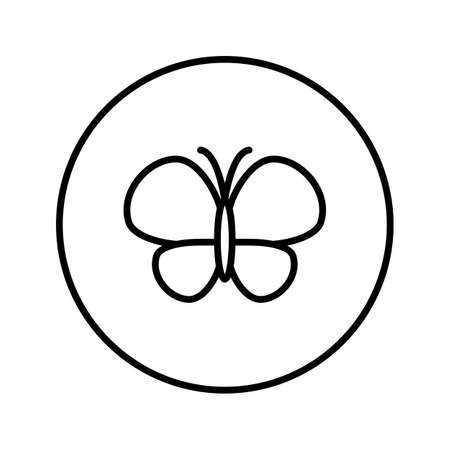 Butterfly. Icon. Editable Thin line. Vector illustration.