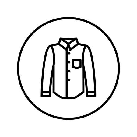 Classical shirt. Icon. Editable Thin line. Vector illustration.