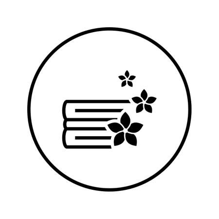 Clean fragrant linen. Laundry. Washing. Icon. Thin line. Vector. Çizim