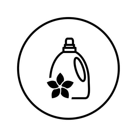 Bottle of fabric softener. Icon. Editable Thin line. Vector illustration.