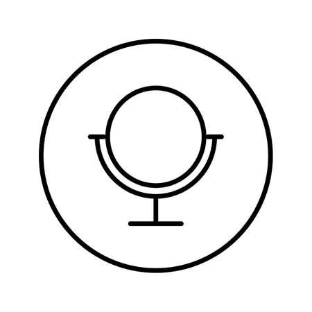Mirror. Icon. Editable Thin line. Vector illustration.