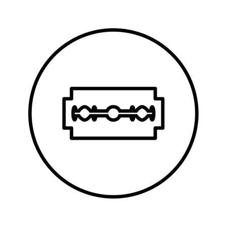 Razor Blade. Icon. Editable Thin line. Vector illustration.